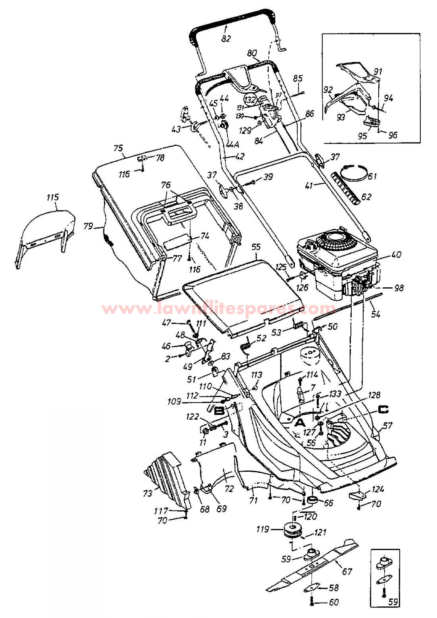 Friction Wheel And Drive besides Weed Eater Riding Lawn Mower Wiring Diagram additionally Honda Gx160 Engine Parts Diagram besides Webb 41cm 16 Push Steel Deck Petrol Rotary Mower 15159 P likewise Mower Deck Group. on electric self propelled push mower